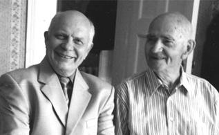Н.Г. Полянский (справа) и П.Е. Тулупов