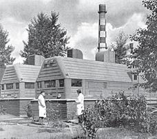 Передвижная станция ТЭС-3 на территории ФЭИ
