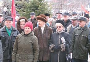 На праздновании 95-летия октябрьской революции левые соединились с правыми