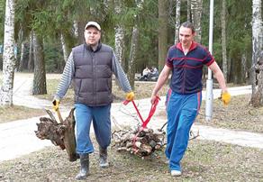 В Обнинске идет весенний субботник