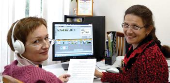 Ирина Глухова и Ольга Кочанова в процессе работы над диском