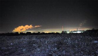 Конец января, вид из Кабицыно