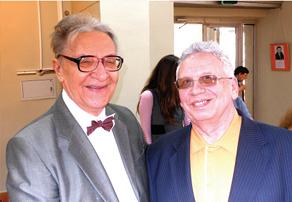 Профессор из ГНЦ РФ ФЭИ Юрий Юрьев и Виктор Канке (справа)