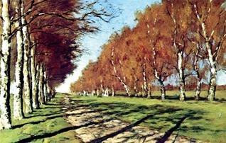Левитан. Большая дорога. Белкино. 1897